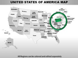USA Pennsylvania State Powerpoint Maps