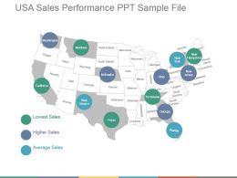 Usa Sales Performance Ppt Sample File