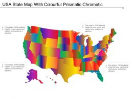 Usa State Map With Colourful Prismatic Chromatic