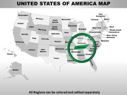 Usa Tennessee State Powerpoint Maps