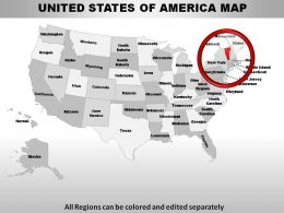 USA Vermont State Powerpoint Maps