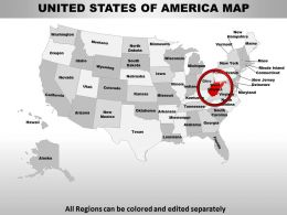 Usa West Virginia State Powerpoint Maps