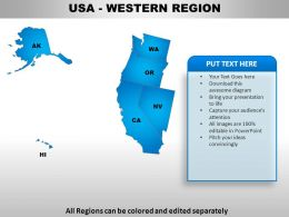 USA Western Region Country Powerpoint Maps