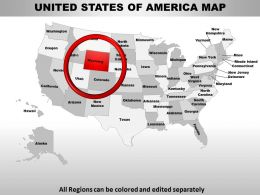 Usa Wyoming State Powerpoint Maps