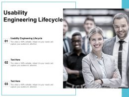 Usability Engineering Lifecycle Ppt Powerpoint Presentation Inspiration Graphics Pictures Cpb