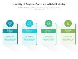 Usability Of Analytics Software In Retail Industry