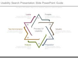 Usability Search Presentation Slide Powerpoint Guide