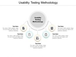 Usability Testing Methodology Ppt Powerpoint Presentation Icon Example Cpb