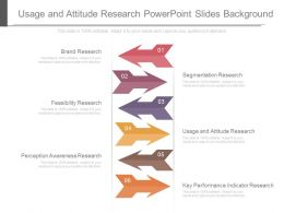 Usage And Attitude Research Powerpoint Slides Background