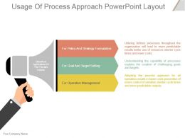 Usage Of Process Approach Powerpoint Layout