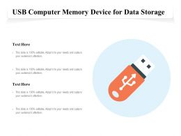 USB Computer Memory Device For Data Storage