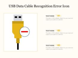 USB Data Cable Recognition Error Icon