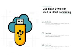Usb Flash Drive Icon Used In Cloud Computing