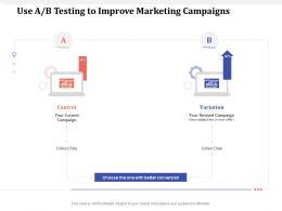 Use A B Testing To Improve Marketing Campaigns Better Ppt Powerpoint Presentation Portfolio Show