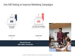 Use A B Testing To Improve Marketing Campaigns Ppt Powerpoint Presentation File Deck