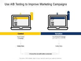Use A B Testing To Improve Marketing Campaigns Your Ppt Powerpoint Presentation Icon Infographic