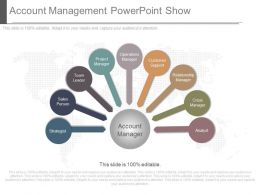 Use Account Management Powerpoint Show