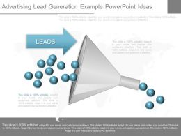 Use Advertising Lead Generation Example Powerpoint Ideas