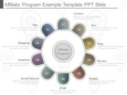 Use Affiliate Program Example Template Ppt Slide
