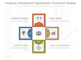 Use Analyzing International Opportunities Powerpoint Shapes