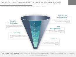 Use Automated Lead Generation Ppt Powerpoint Slide Background