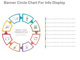 use Banner Circle Chart For Info Display Flat Powerpoint Design
