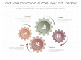 Use Boost Team Performance At Work Powerpoint Templates