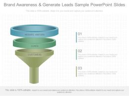Use Brand Awareness And Generate Leads Sample Powerpoint Slides