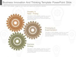 Use Business Innovation And Thinking Template Powerpoint Slide