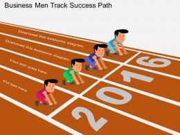 use Business Men Track Success Path Flat Powerpoint Design