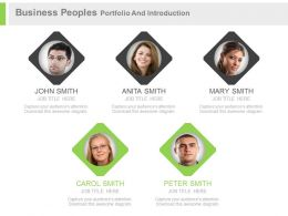 use Business Peoples Portfolio And Introduction Flat Powerpoint Design