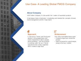 Use Case A Leading Global FMCG Company Most Talked Ppt Powerpoint Presentation Model