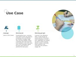Use Case Checklist Opportunity Ppt Powerpoint Presentation Infographics Rules