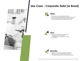 Use Case Corporate Debt Benefits Business Ppt Powerpoint Presentation Gallery Icon