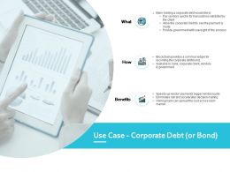 Use Case Corporate Debt Benefits Growth Ppt Powerpoint Presentation Gallery Layout
