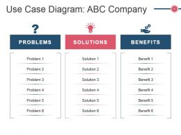 Use Case Diagram Abc Company Ppt Slide Templates