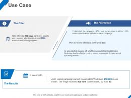 Use Case Promotion Ppt Powerpoint Presentation Icon Show