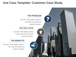 Use Case Template Customer Case Study Ppt Icon