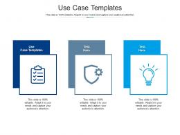 Use Case Templates Ppt Powerpoint Presentation Model Format Ideas Cpb