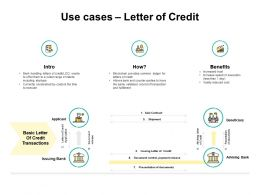 Use Cases Letter Of Credit Shipment Ppt Powerpoint Presentation Pictures Designs