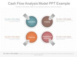 Use Cash Flow Analysis Model Ppt Example