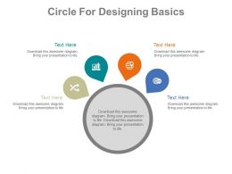 use Circle For Designing Basics Flat Powerpoint Design