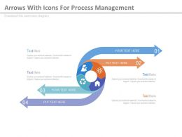use Circle Of Arrows With Icons For Process Management Flat Powerpoint Design