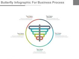 use Circle Of Butterfly Infographics For Business Process Flat Powerpoint Design