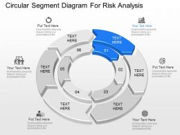 use Circular Segment Diagram For Risk Analysis Powerpoint Template