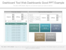 Use Dashboard Tool Web Dashboards Good Ppt Example