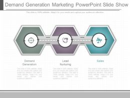 Use Demand Generation Marketing Powerpoint Slide Show