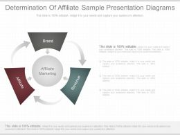Use Determination Of Affiliate Sample Presentation Diagrams