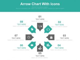 use Eight Staged Arrow Chart With Icons Flat Powerpoint Design