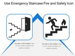Use Emergency Staircase Fire And Safety Icon